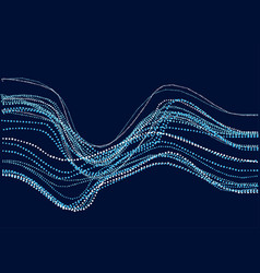 Abstract river water concept dynamic emitted vector