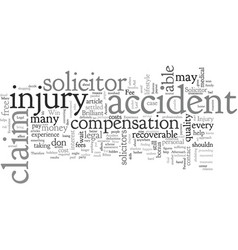 Accident injury claim get the right solicitor to vector
