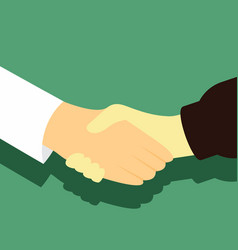 agreement shaking hand gesture graphic vector image
