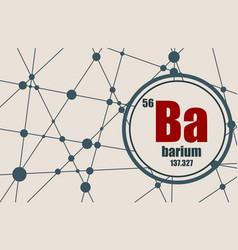barium chemical element vector image