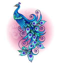 beautiful peacock vector image