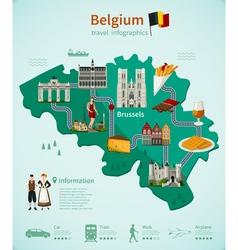 Belgium Travel Infographics vector