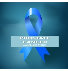 Blue Ribbon Symbol of World Prostate Cancer vector image