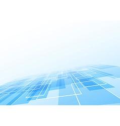 Blue tile lie perspective background vector