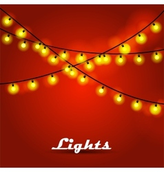 Bokeh garland lights vector image