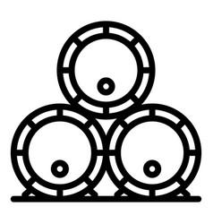 Bourbon deposit barrels icon outline style vector