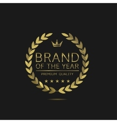 brand year vector image