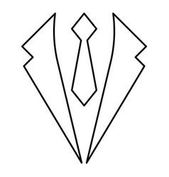 business concept jacket and tie cravat suit vector image