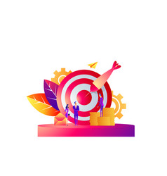 business concept target with vector image
