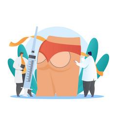 buttock plastic surgery concept vector image
