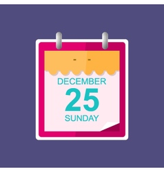 Calendar Leaf Isolated on Purple Background vector