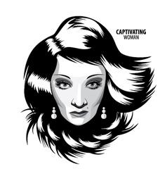 Captivating woman vector