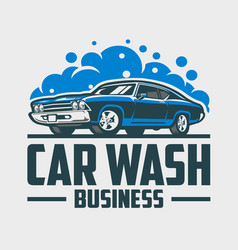 car wash business ready made logo vector image