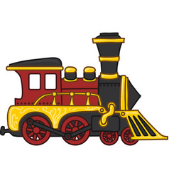 cartoon toy train vector image
