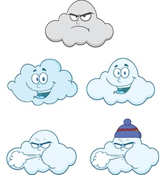 Cartoon weather vector image