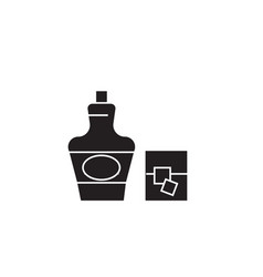 cognac brandy black concept icon cognac vector image