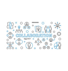 Collaboration concept outline vector