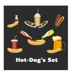 Concept of national hot dog day vector