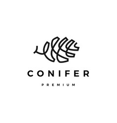 conifer logo icon vector image