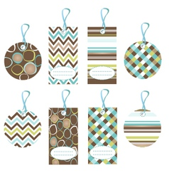 Cool color tags vector
