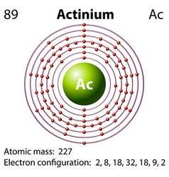 Diagram representation of the element actinium vector