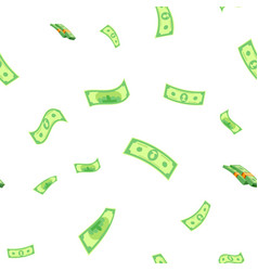 dollar seamless pattern green money vector image