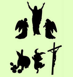 easter event silhouette vector image