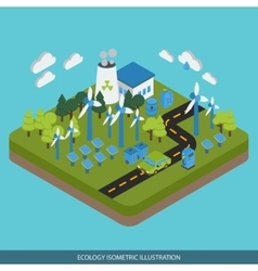 Ecology Isometric Design vector image