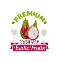 Exotic asian dragon fruit or pitahaya symbol vector image