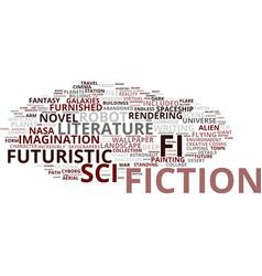 Fiction word cloud concept vector