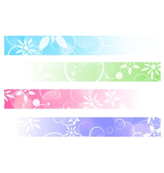 Floral Abstract Banner Set vector