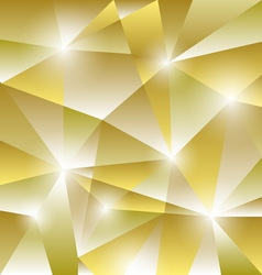 Geometric pattern with golden triangles background vector