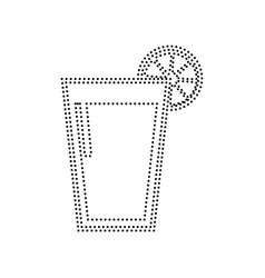 glass of juice icons black dotted icon on vector image vector image