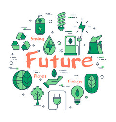 green eco future concept vector image