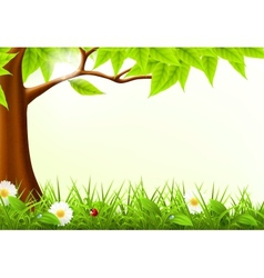 Green Tree Frame vector image