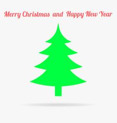 Gren christmas tree flat icon vector