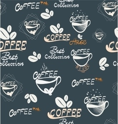 hand drawing coffee seamless vector image