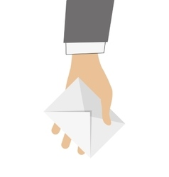 Hand holding envelope icon vector