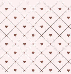 hearts on white background valentines day vintage vector image