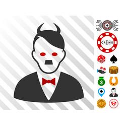 Hitler devil icon with bonus vector