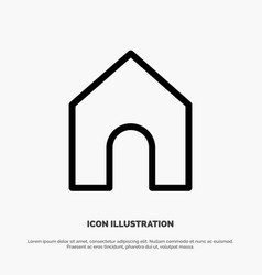 home instagram interface line icon vector image