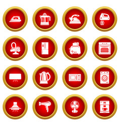 House appliance icons set simple style vector