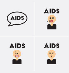Icons collection various symptoms of aids vector