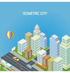 Isometric City Background vector