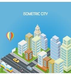 Isometric City Background vector image