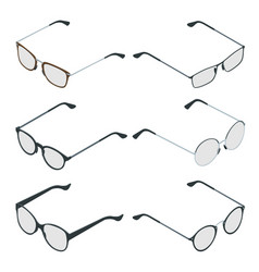 isometric glasses isolated on white background vector image