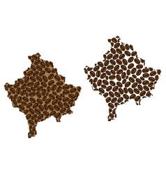 Kosovo - map of coffee bean vector