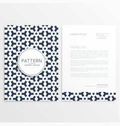letterhead template with abstract shapes vector image