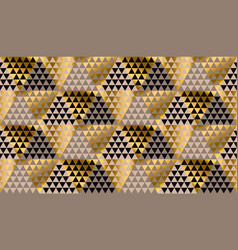 Luxury geometry black gold and beige pattern vector