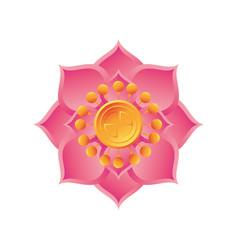 Mid autumn festival lotus flower on white vector